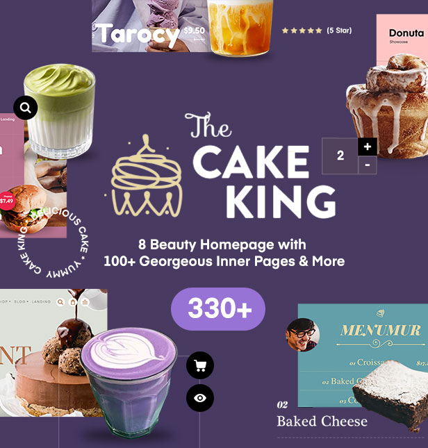Cake King - Multipurpose Responsive Cake Template - 1